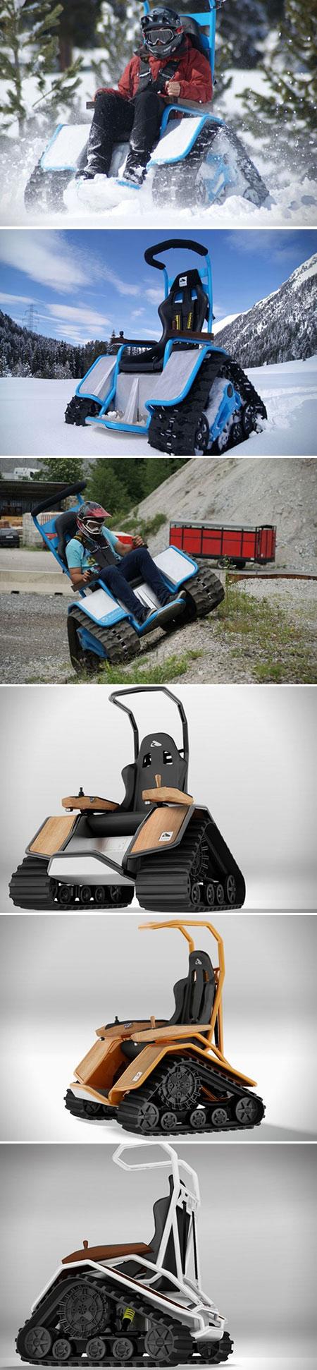 Der Ziesel Electric Tank Wheelchair