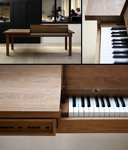 At First Glance, The Piano Table May Look Like Any Other Kitchen Piece, But  Flip Open One Of Its Panels, And Youu0027ll Be Greeted With A Fully Functional  ...