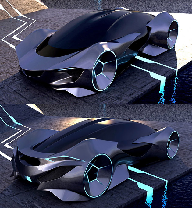 Dino EV Concept Looks Like an Electric Car Straight from the TRON Universe