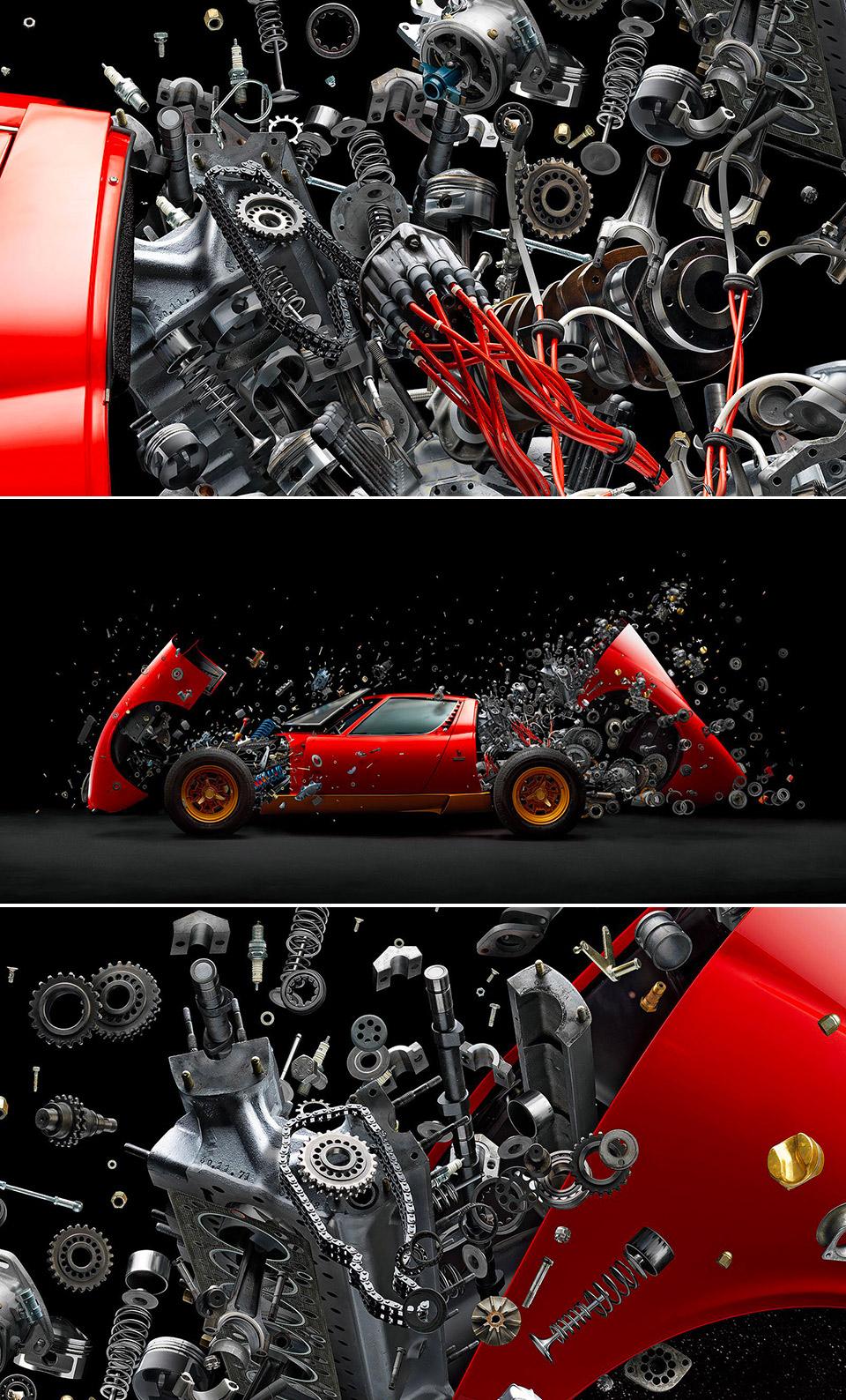 Disintegrating Lamborghini Miura