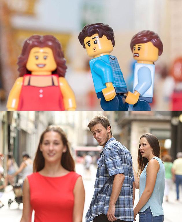 Distracted Boyfriend LEGO