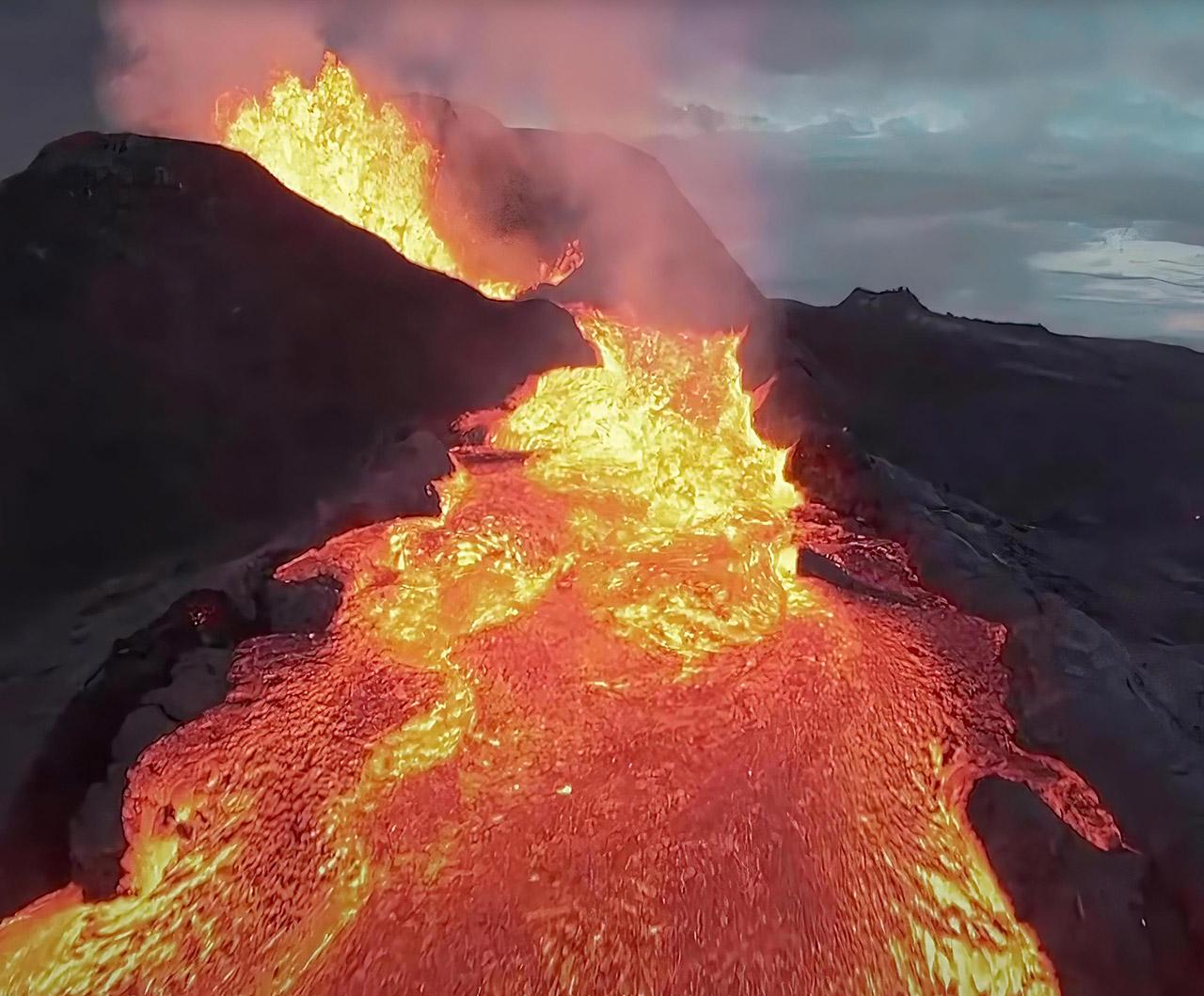 DJI FPV Drone Iceland Volcano Crash