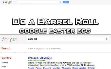 do a barrel roll ascii art and other google tricks techeblog
