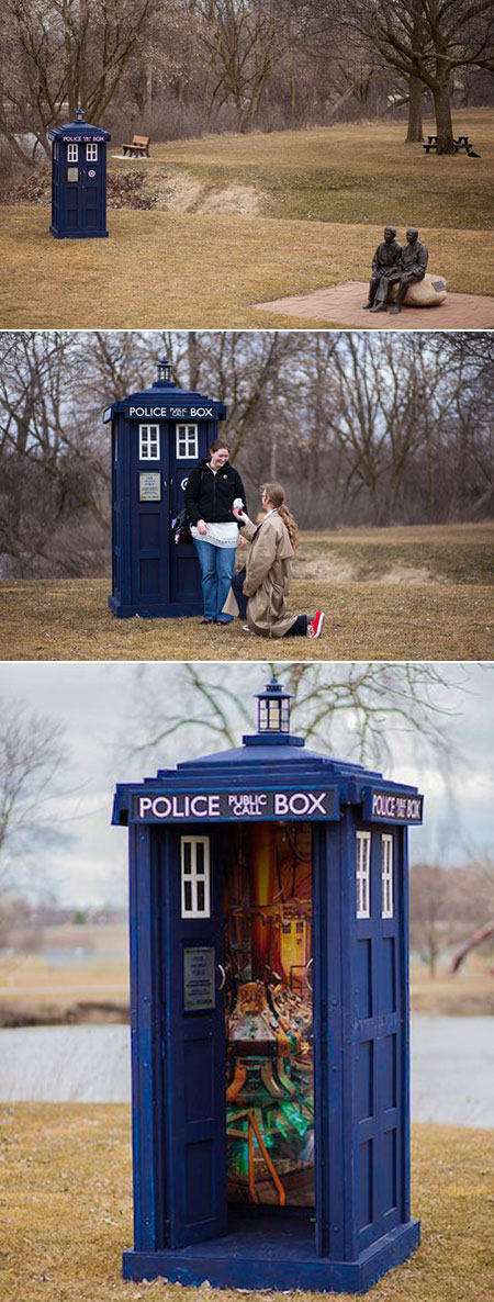 Doctor Who Tardis Engagement