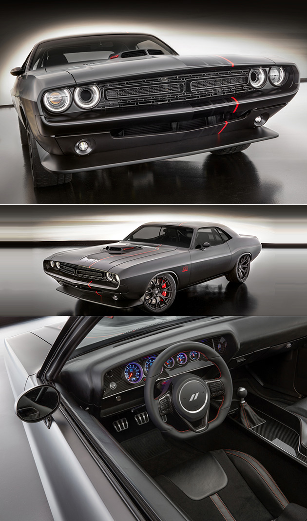 Dodge Shakedown Challenger Boasts Blacked Out 1971 Design Complete