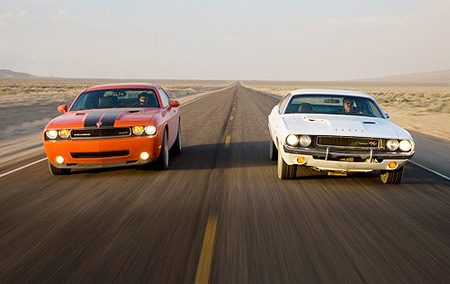 Dodge challenger old vs new
