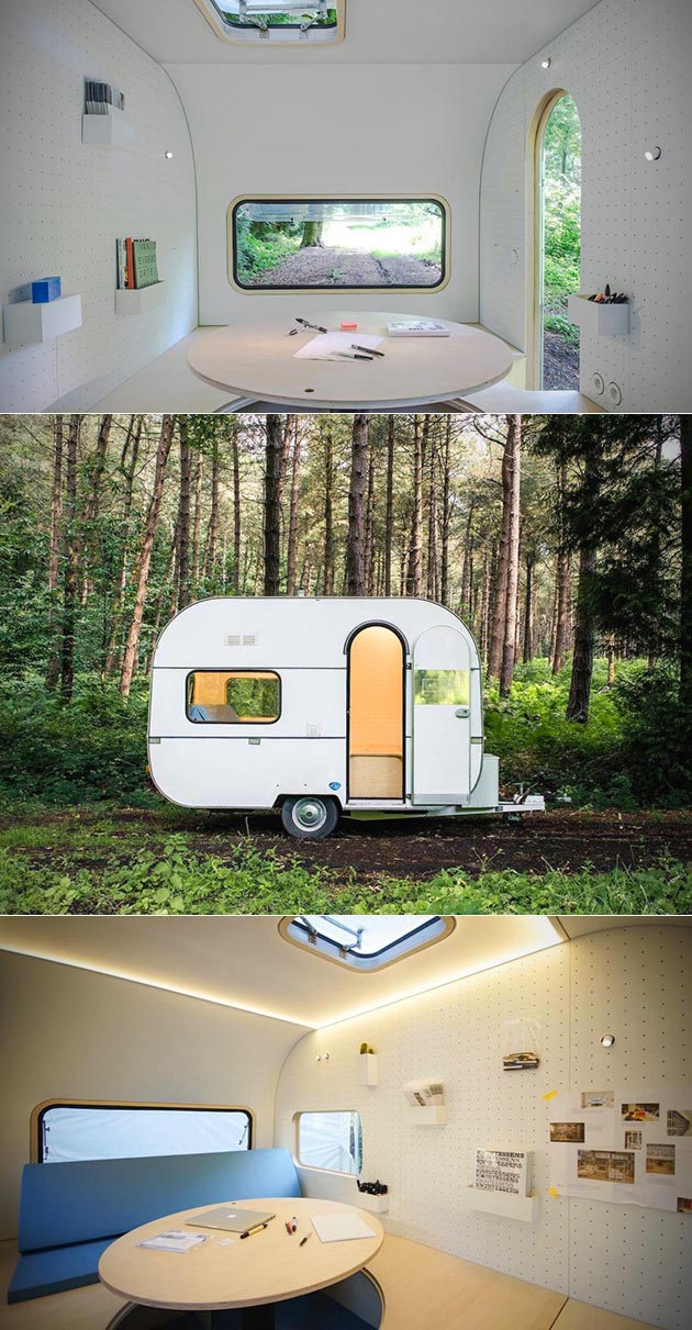 If a Japanese Capsule Hotel Pod Were Turned Into a Camping Trailer, It Would Look Like the Dojowheel – TechEBlog