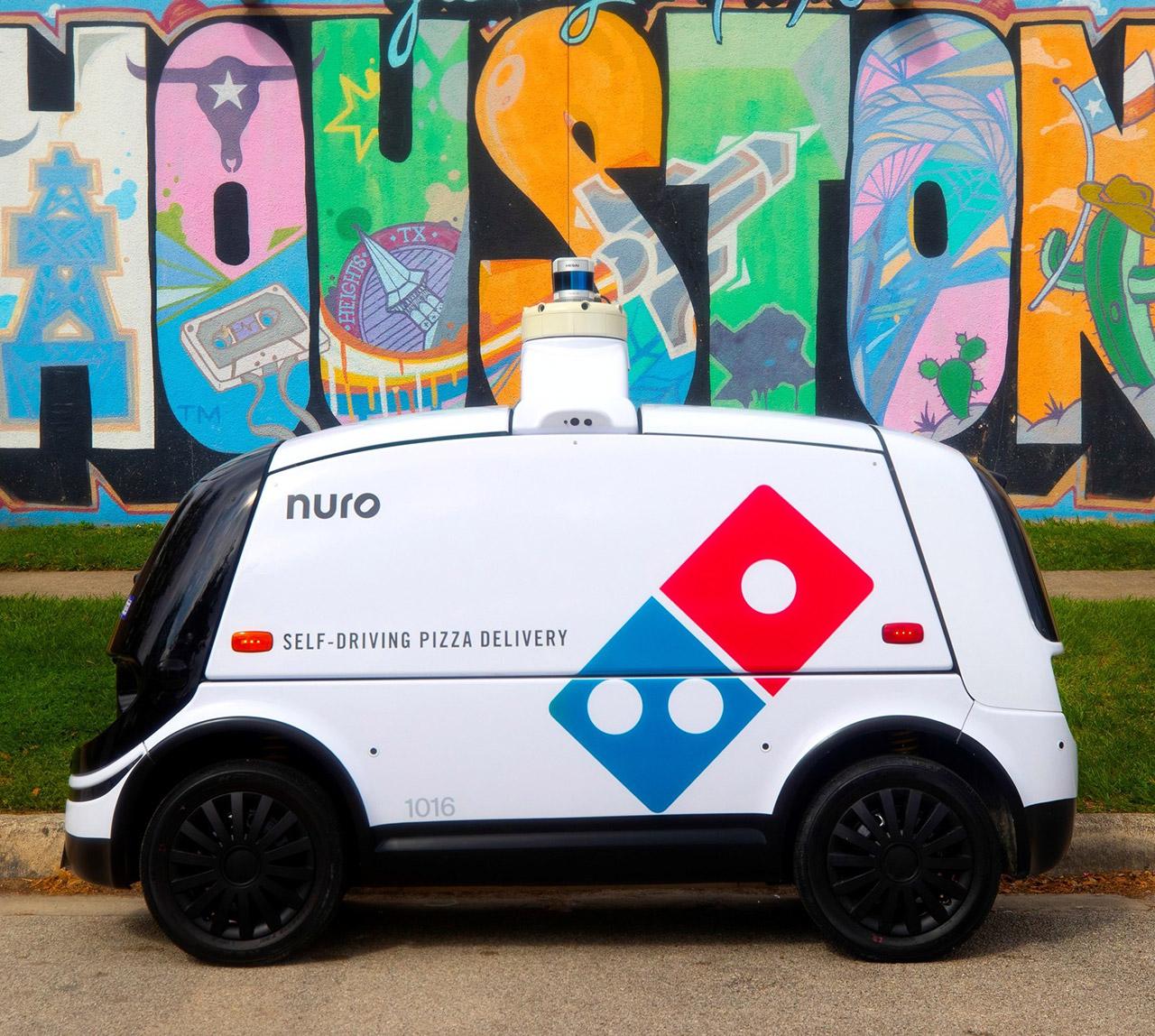 Dominos Nuro Autonomous Pizza Delivery Robot
