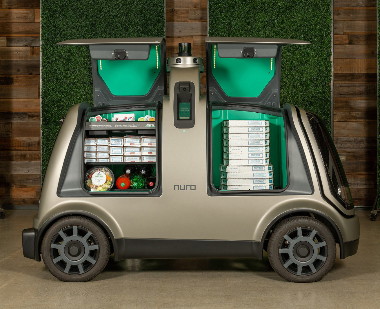 Domino's Nuro R2 Self-Driving Vehicles