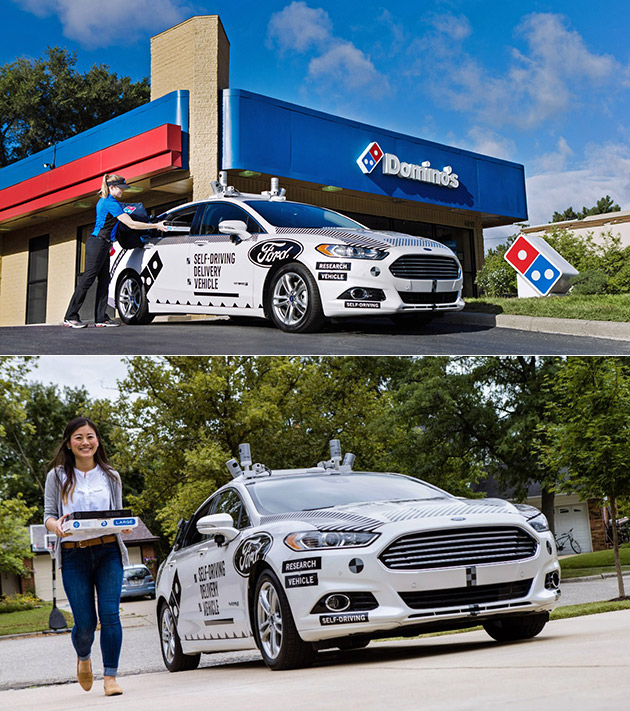 Domino's Self-Driving Pizza Delivery Car