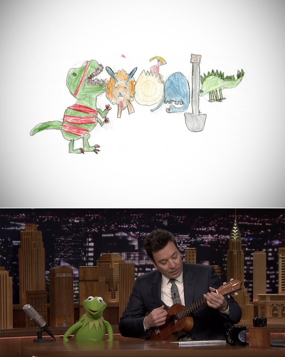 Doodle4Google Kermit the Frog Fallon