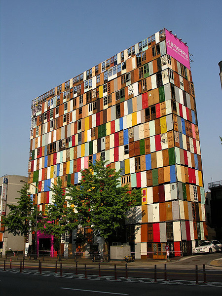Artist / designer Choi Jeong-Hwa basically  used 1000 old doors to create an unusual ten-story door building.  However weu0027re not quite ... & Strange Building with 1000 Doors Spotted in South Korea - TechEBlog