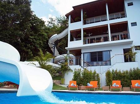 Water Slide In Backyard water park fan builds 256-foot double loop slide in backyard - techeblog