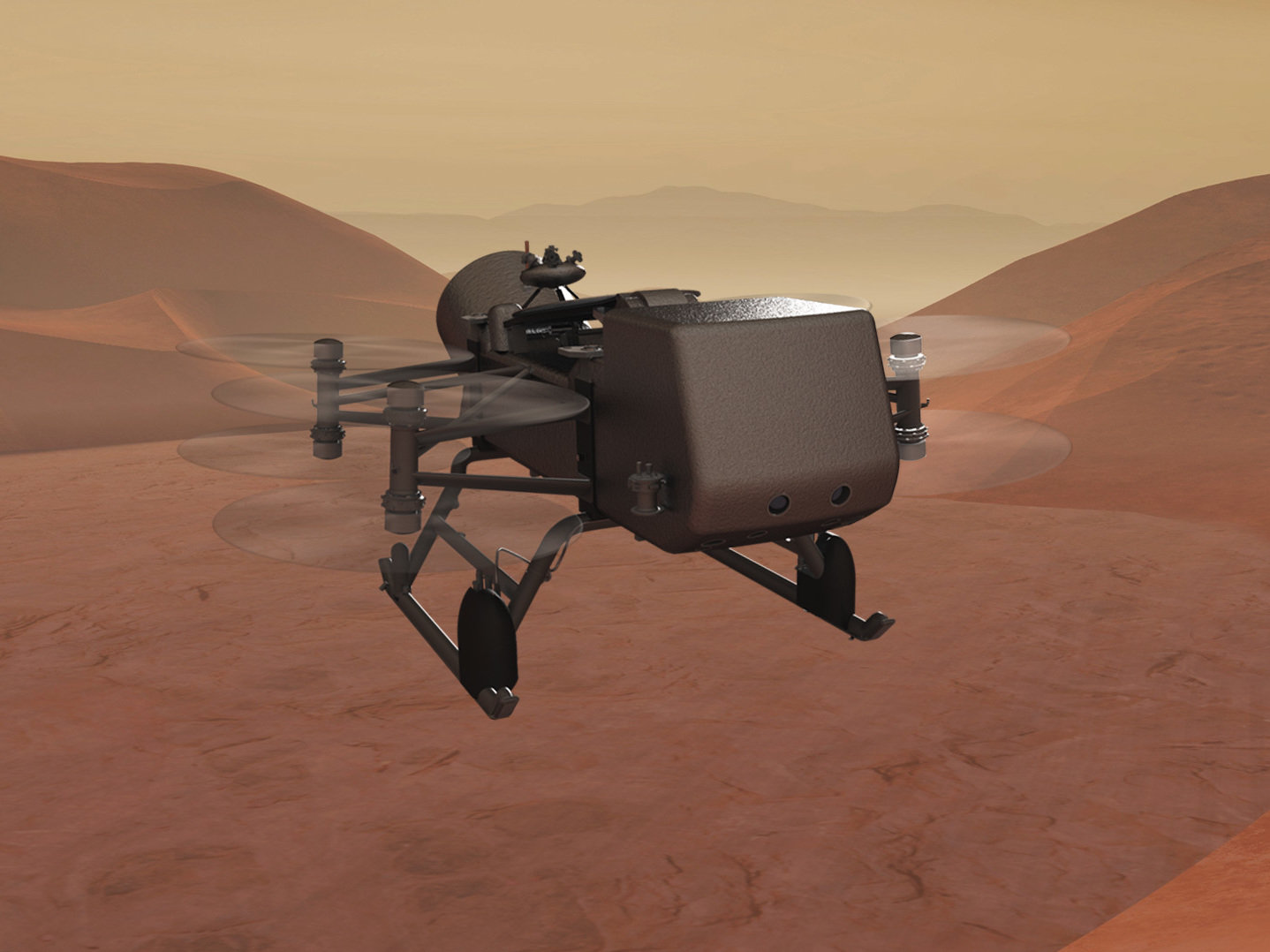 Dragonfly Drone NASA Titan