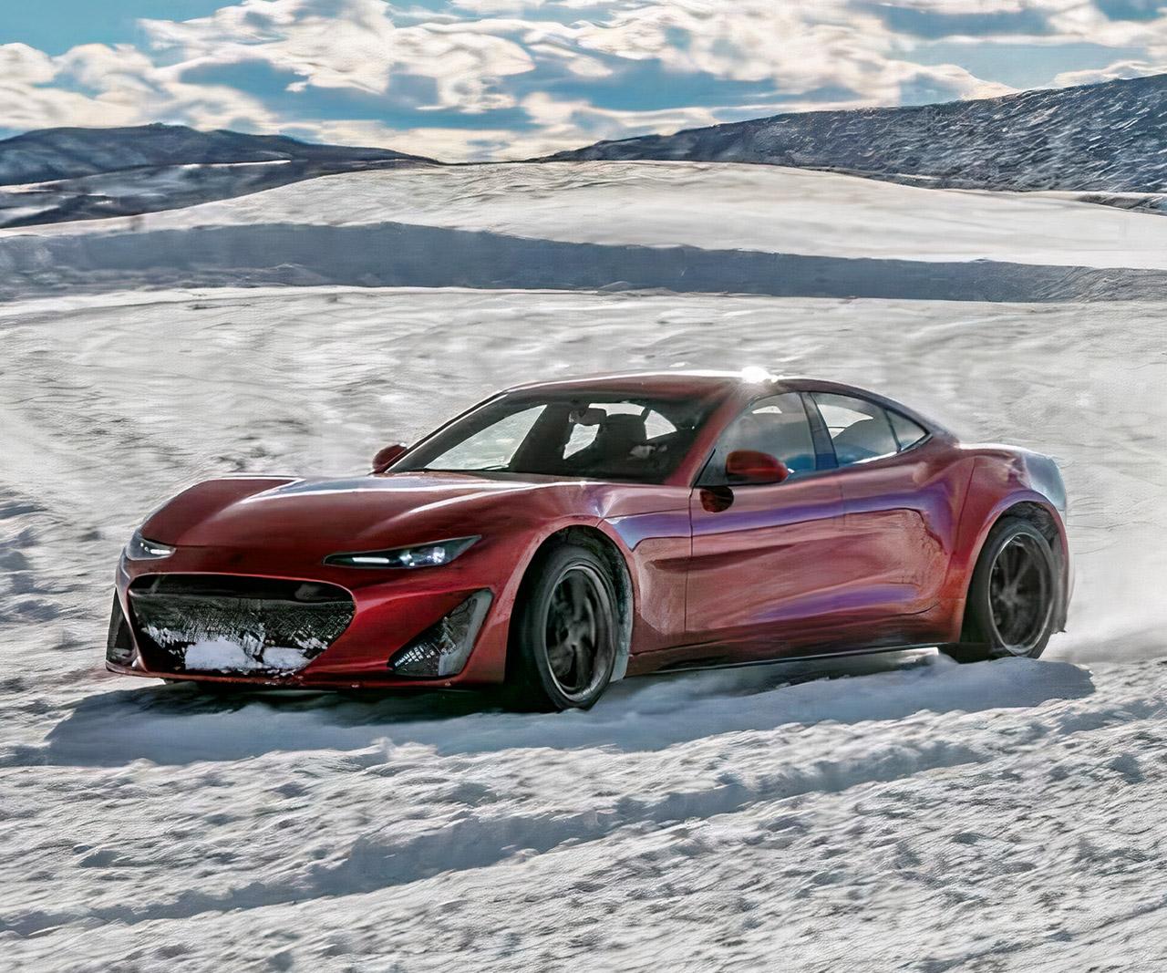 Drako GTE Electric Hypercar Ice Snow