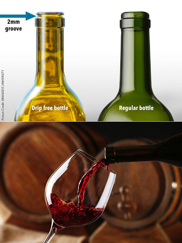 Drip-Free Wine Bottle
