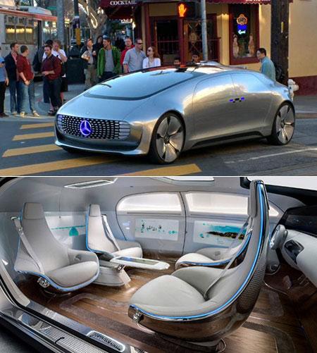 Driverless Mercedes
