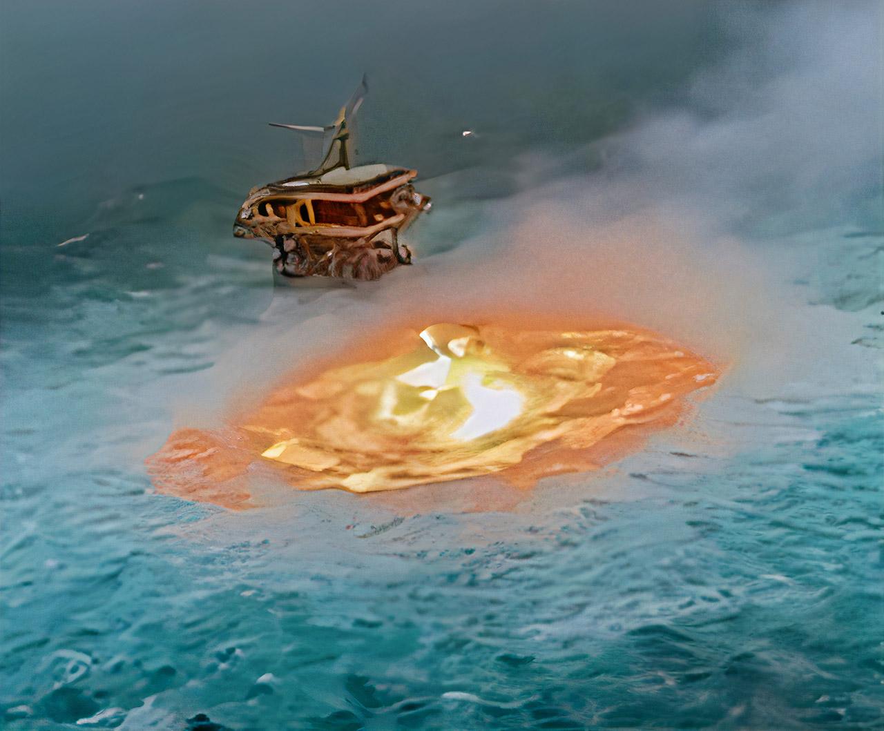 Drone Gas Pipeline Rupture Burst Gulf of Mexico