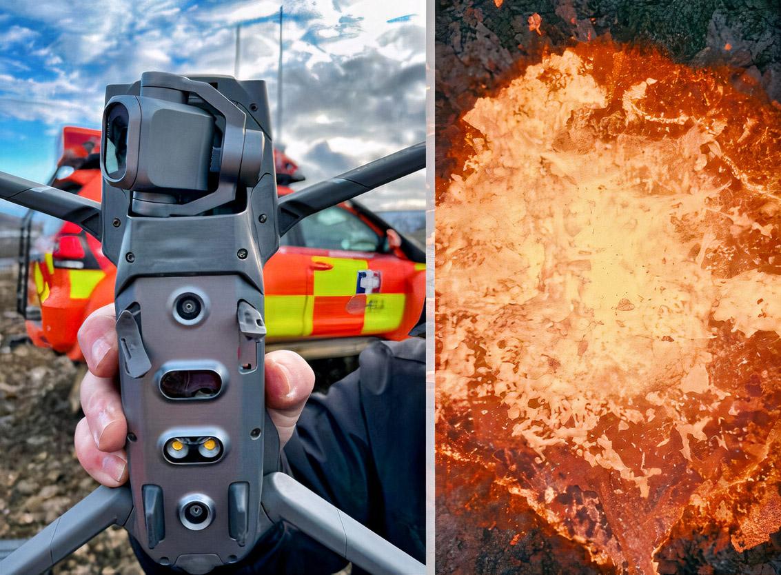 Drone Iceland Volcano Melt