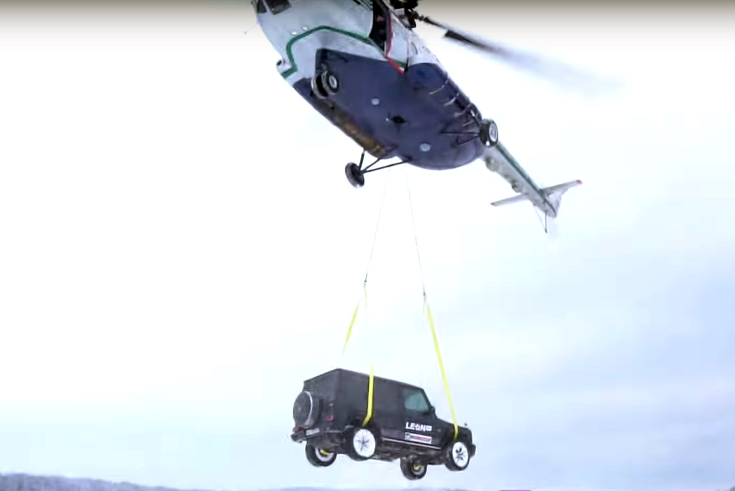 Drop AMG G63 Helicopter