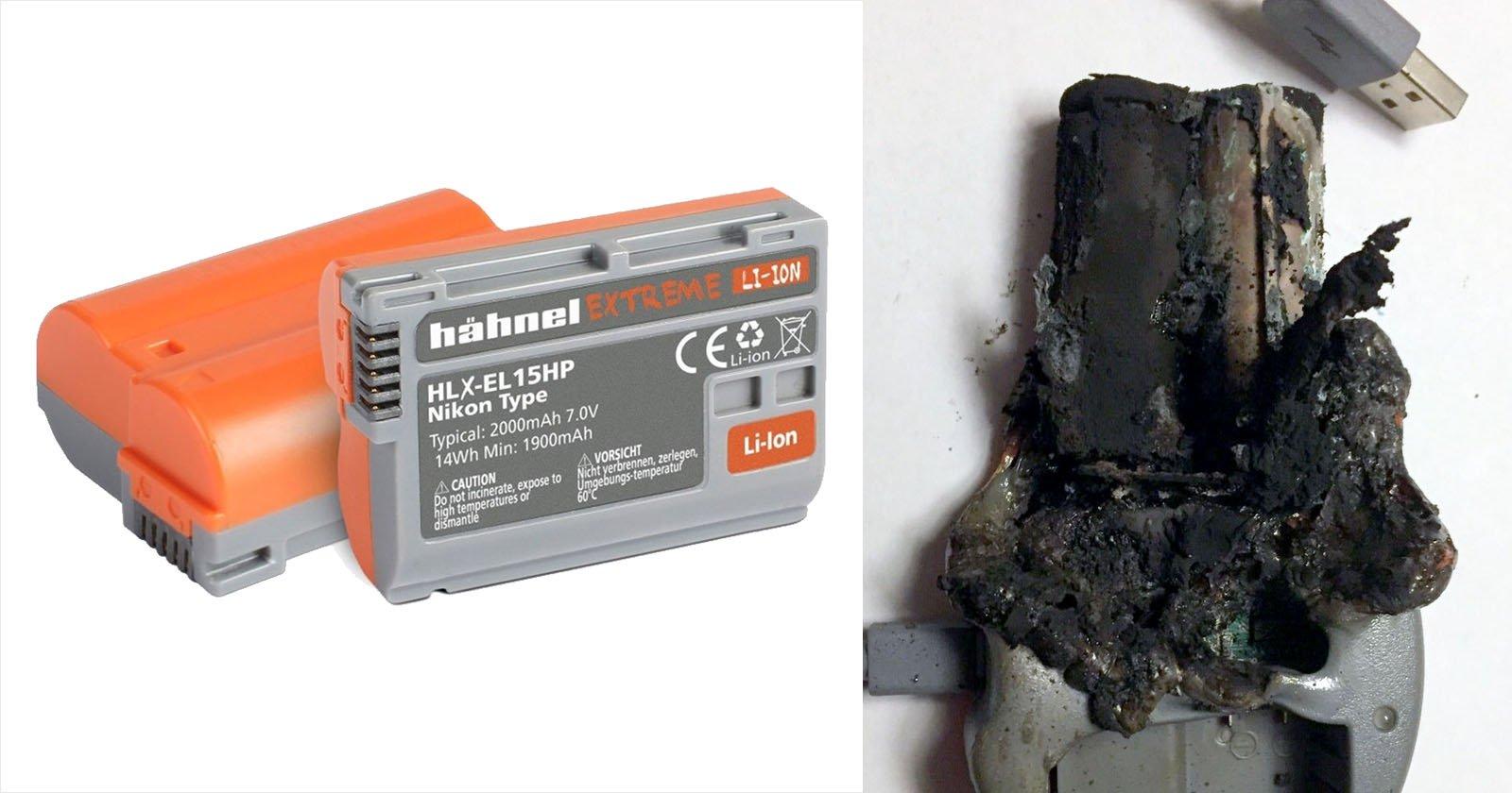 DSLR Battery Flames