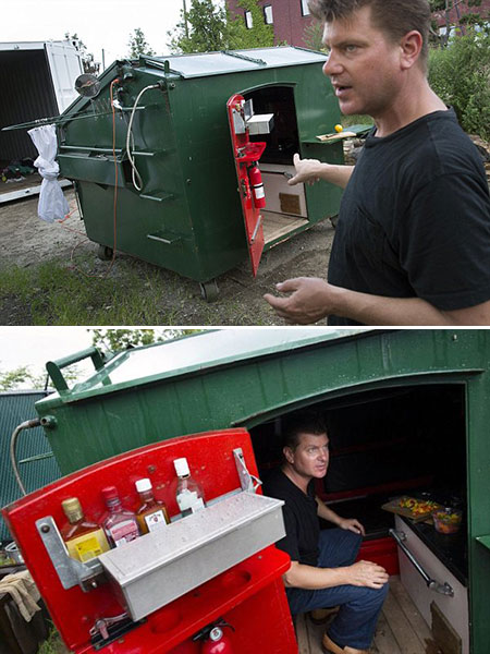 Homeless Shelters from Trash