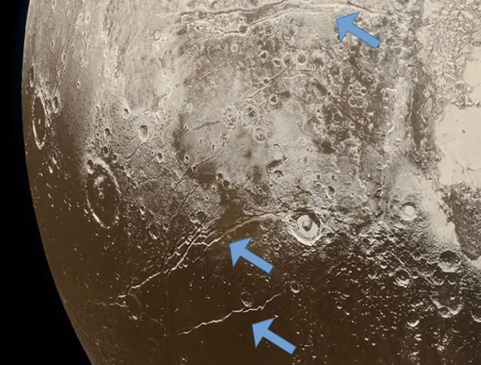 Dwarf Planet Pluto Ocean