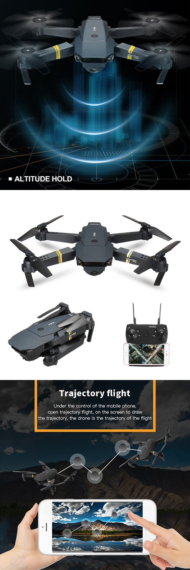 Don't Pay $80, Get the DJI Mavic Pro-Inspired EACHINE E58 Folding Drone for $59.24 Shipped - Today Only