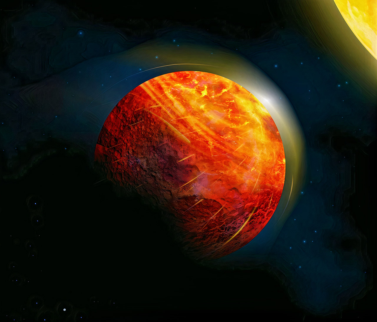 Earth Exoplanet Lava Planet K2-141b