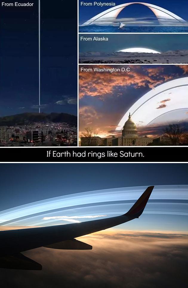 Earth Saturn's Rings