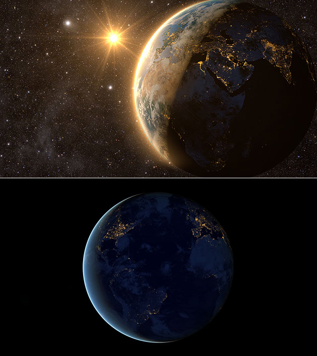 Earth Spinning Backwards
