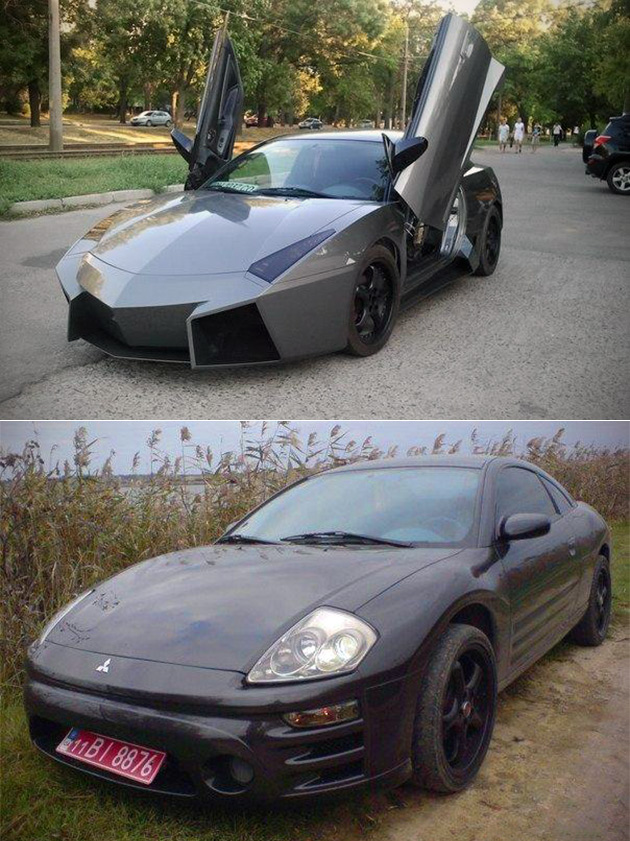Auto enthusiast from ukraine transforms mitsubishi eclipse for Lamborghini reventon interior