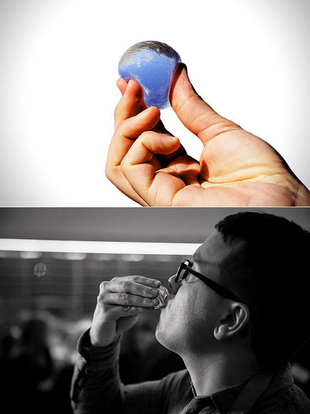 Edible Water Spheres