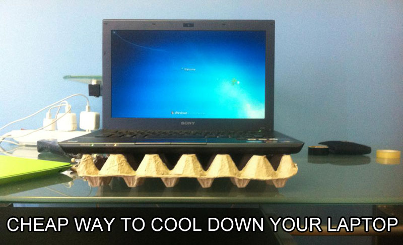 Laptop Cooler Life Hack
