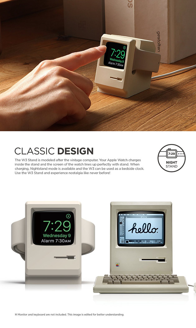 Elago W3 Stand Turns Your Apple Watch Into a Mini Macintosh, Get One for $7.99 - Today Only