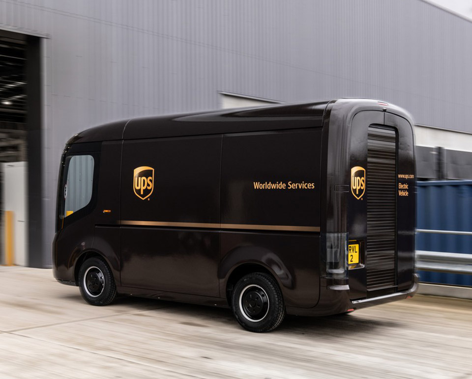 Electric UPS Delivery Truck Arrival