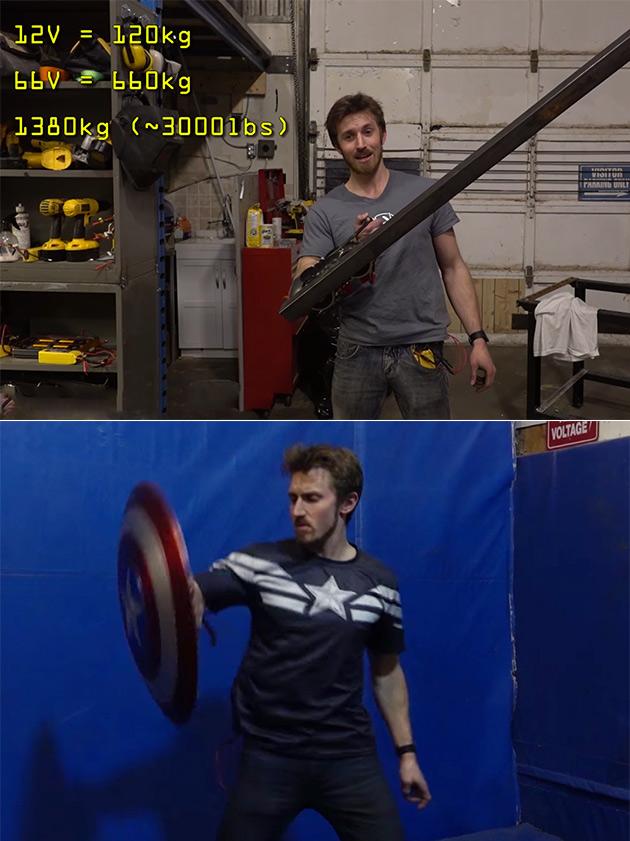 Electromagnetic Captain America Shield