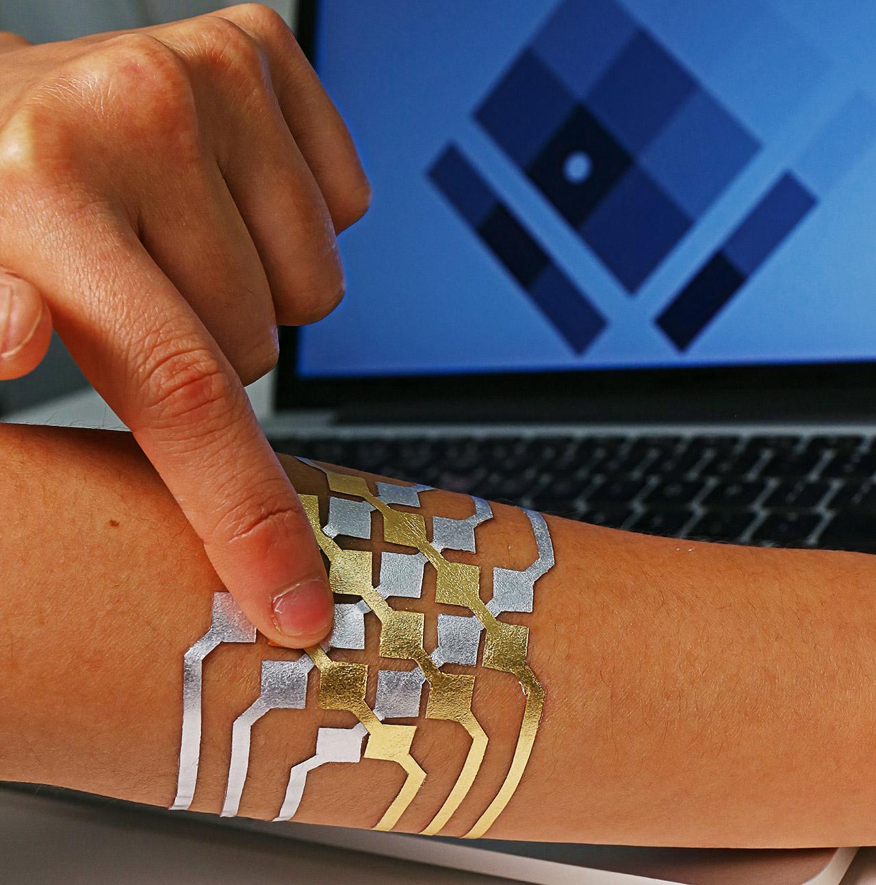 Electronic Tattoo Smartphone Control