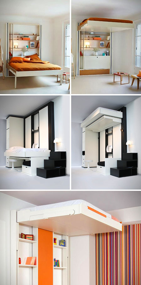 espace loggia 39 s elevator beds maximize your living space. Black Bedroom Furniture Sets. Home Design Ideas