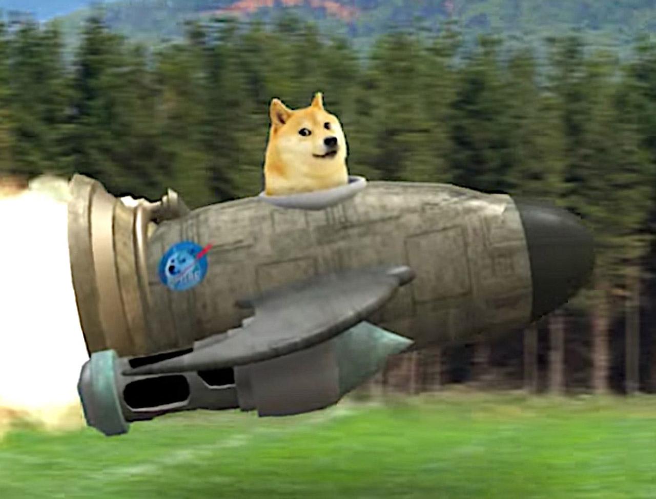 Elon Musk Dogecoin SpaceX DOGE-1 Moon