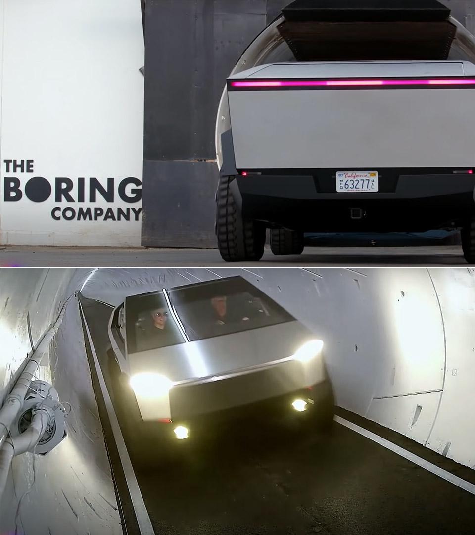 Elon Musk Jay Leno Cybertruck Tunnel