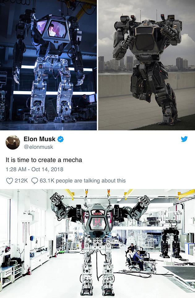 Elon Musk Mecha