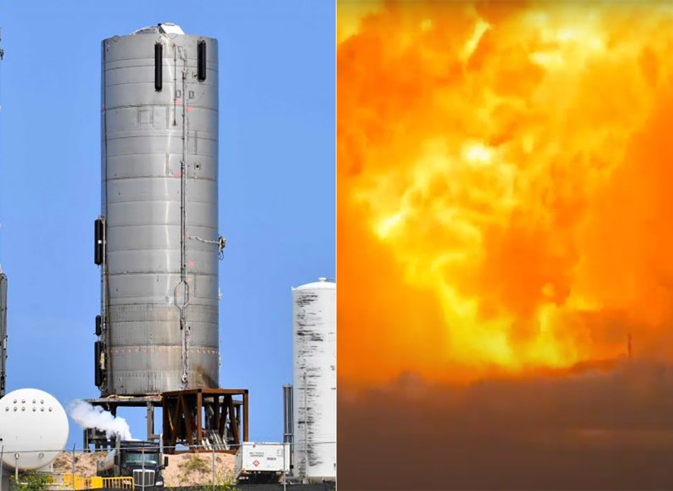 Elon Musk SpaceX SN4 Launch Vehicle Explosion