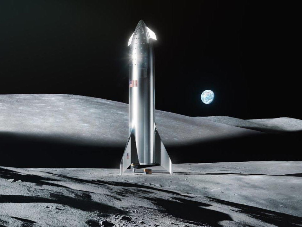 Elon Musk SpaceX Starship Moon