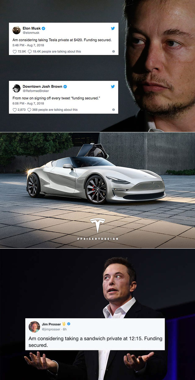 Elon Musk Tesla Funding Secured