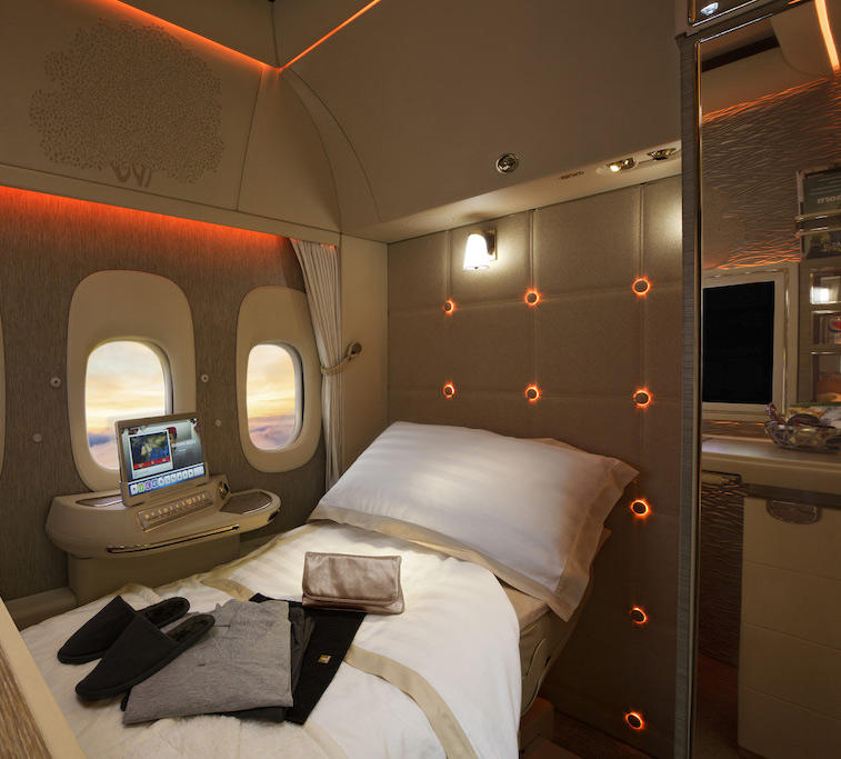 incredible look inside emirates new first class suite. Black Bedroom Furniture Sets. Home Design Ideas