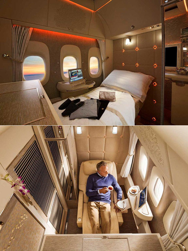 Emirates New 777 First Class Suite Is Almost Like Your Own Private