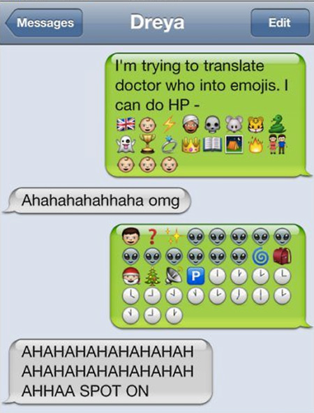 Creative Ways Geeks Use Emojis In Text Messages