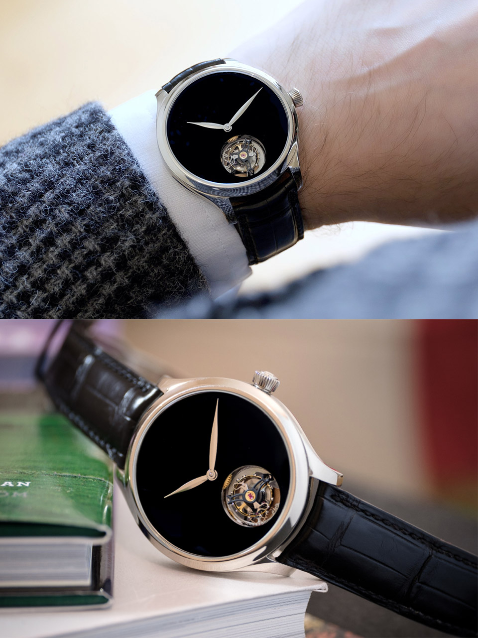 Endeavour Tourbillon Concept Vantablack Watch