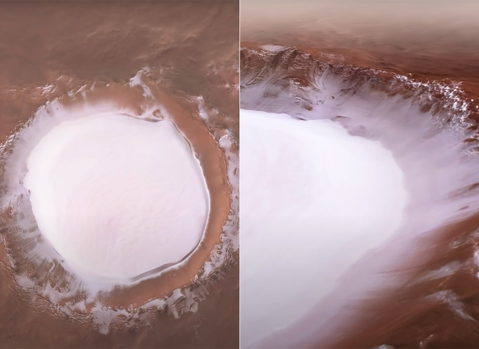 ESA Korolev Impact Crater Mars